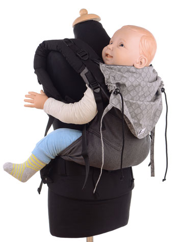 soft structured carrier for preschoolers, ergonomic hipbelt, well padded shoulder straps, adjustable panel, wrap conversion.