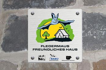"""Plakette """"Fledermausfreundliches Haus"""""""