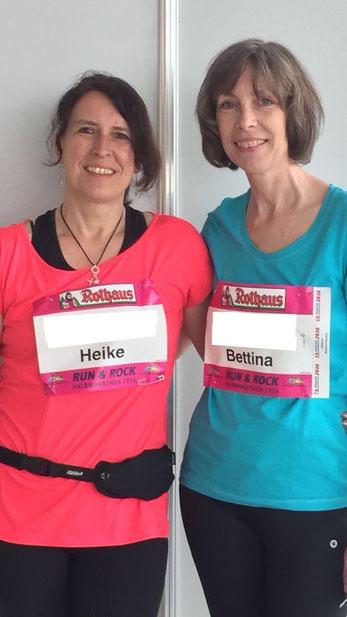 Halbmarathon in Freiburg - Heike und Bettina haben gut trainiert