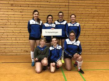 TVH U16w: hinten v.l.:  Amelie Bäuerle, Benita Höckele, Jana Bäuerle, Elena Falkenstein. vorne v.l.: Mareen Falkenstein, Joleen Wenzdorfer, Selin Dönmez