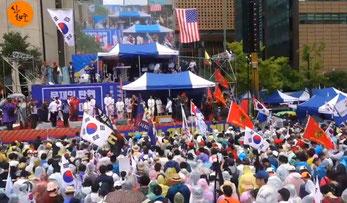 韓国保守系を中心に文政権退陣要求の集会デモが拡大