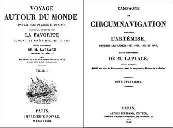 Cyrille Laplace (1793-1875) : la CHINE, dans : Voyage autour du monde sur la Favorite (1830-1832). Et de : Campagne de circumnavigation de la frégate l'Artémise (1837-1840).