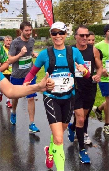 Giulia beim 3-Länder-Marathon in Bregenz am 4. Oktober 2015