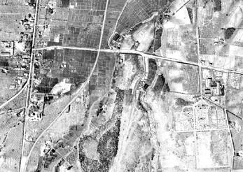 昭和23年頃の南平岸地域の航空写真(国土地理院ホームページより)