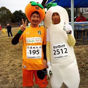 美濃加茂市で柿の宣伝