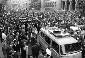Demo mod politimordet på Benno Ohnesorg i Vestberlin