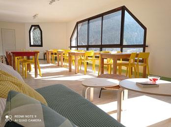Salle commune du gite communal du Sappey en Chartreuse