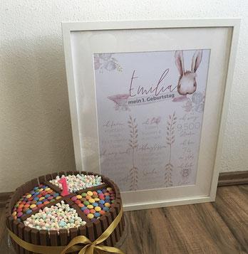 Meilensteintafeln, Milestone boards, Geburtstag