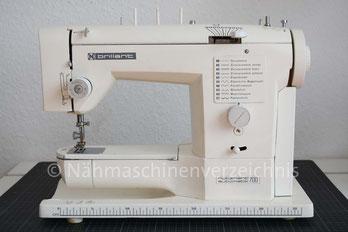 Neckermann Brillant Nutznaht Automatik 700, Freiarm-Haushaltsnähmaschine mit Programmautomatk, Hersteller: Vigorelli, Pavia, Italien (Bilder: C. Klein)