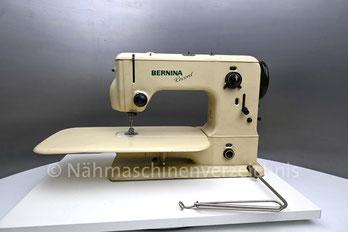Bernina Record 530, Freiarm mit Einbaumotor, Zickzack-Haushaltsnähmaschine mit Zierstichautomatik. Hersteller: Fritz Gegauf AG Bernina-Nähmachinenfabrik Steckborn TG/Schweiz (Bilder: Nähmaschinenverzeichnis)