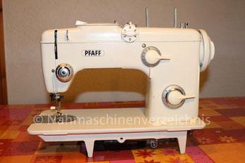 Pfaff 261  Automatic, Gewerbenähmaschine, Flachbett mit Einbaumotor, Hersteller: G.M. Pfaff AG, Nähmaschinenfabrik, Kaiserslautern (Bilder: Mario Kreutz)
