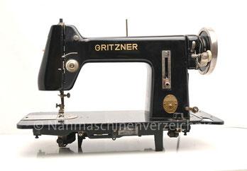 Gritzner VG, neue Gehäuseform, Flachbett, Fußantrieb, Anbau von Motor möglich, Hersteller: Gritzner-Werke, Durlach (Bilder: Nähmaschinenverzeichnis)