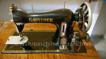 Gritzner Palma V, Flachbett, Fußantrieb, Anbau von Motor möglich, Hersteller: Gritzner-Werke, Durlach, ca. 1906 (Bilder: H. Gierlich)