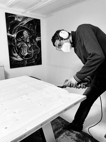 Simon Frei im Atelier