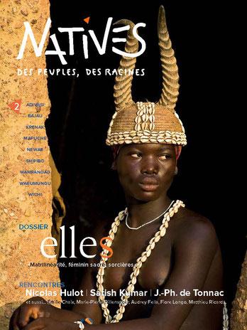Couverture Magazine numéro 2 revue Natives peuples autochtones du monde dossier Elles
