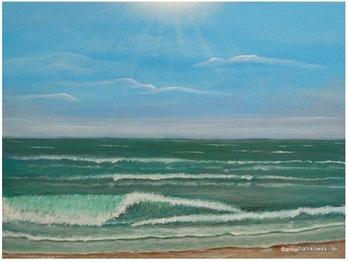 Meeresbild Weite See, gemalte Meerbilder online kaufen, Acrylgemälde mit einer Meereslandschaft