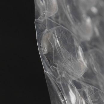 気泡緩衝材エアセルマット三層品の断面