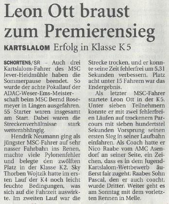 Nordwest Zeitung 21.08.2019