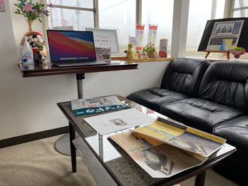 会津・喜多方でホームページ制作・作成するオフィスプチデザイン、JimdoCafe喜多方、わくわくパソコン塾のオフィス風景