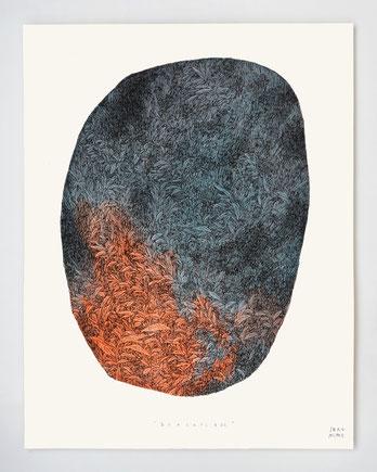 """""""Bercail 05"""" / Encre et aquarelle sur papier / 40x50cm"""