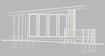 Bild4: Seitenansicht Gartenpavillon | Konferenzpavillon | Besprechungspavillon | Maleratelier | Künstleratelier | Teepavillon | Relaxen | Bockhaus-Odenthal Architekten Münster kreativ