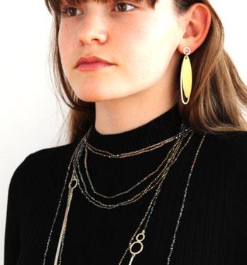 Ohrringe und Ketten von Heike Wanner - Atelier STOSSIMHIMMEL