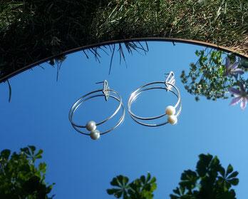 Ohrschmuck mit Perlen von Heike Wanner