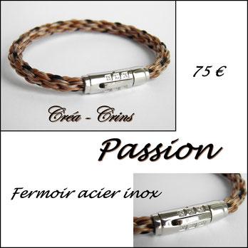 bijou cheval crin souvenir bracelet poney jewelry fermoir