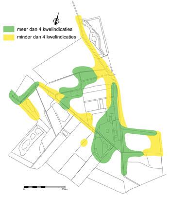 Aantal kwelindicaties in de Zumpe in 1999.