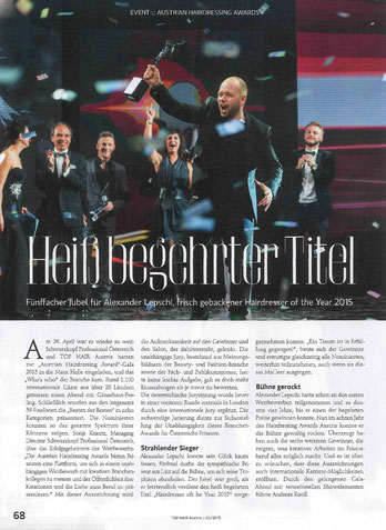 Bericht der TOPHAIR International Austria (Mai 2015)
