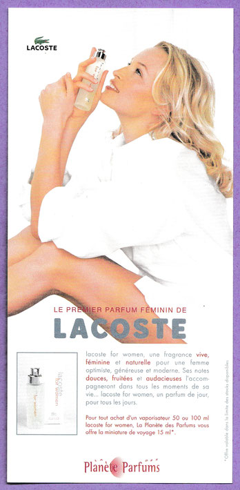 LACOSTE FOR WOMEN - CARTE MODELE N° 2
