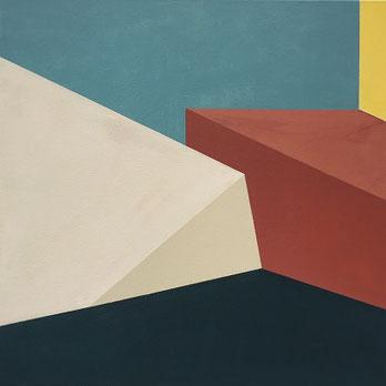 Farbräume 15, Acryl, 2019, 60 x 60 cm