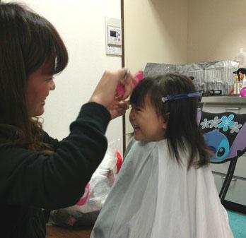 堺市で子供の訪問散髪