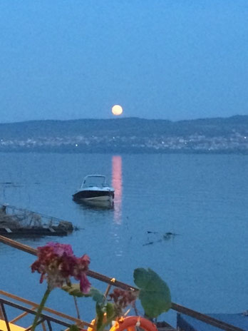Lever de la lune à Belgrade