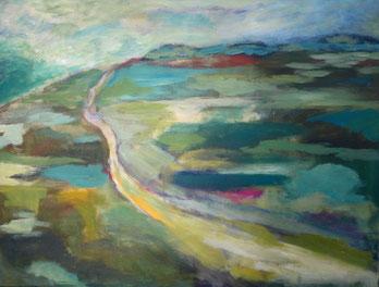 Landschaft mit Weg – Acryl auf Leinwand – 60x80 cm –  2013