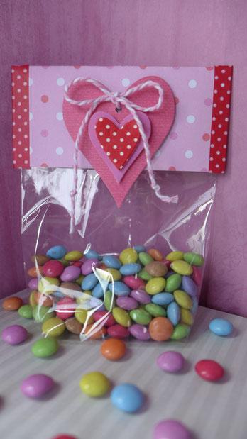 Valentinstag - Süßes für die oder den Süße(n) - Vorschlag 1, so sieht die fertige Verpackung aus