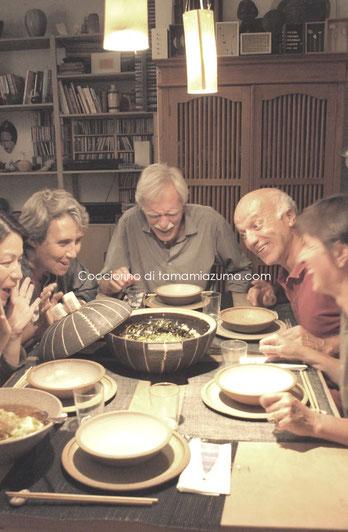 「最後の晩餐」ならぬ帰国前「土鍋の晩餐」  @ミラノ