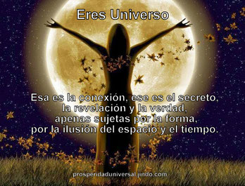 eres universo, el poder del amor- prosperidad universal
