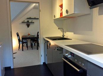 Blick von der Küche zum Essplatz