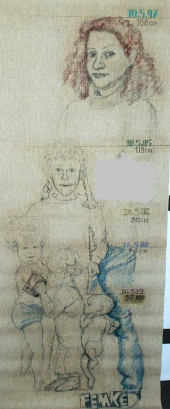 Bild Pastellkreide: Nichte Femke im Wachsen