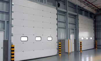 Portes de garage sectionnelles et portes industrielles - Porte de garage sectionnelle industrielle ...