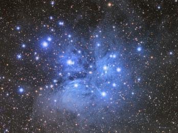 Cúmulo de estrellas Las Pleyades