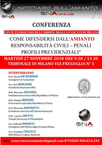 Conferenza milano novembre