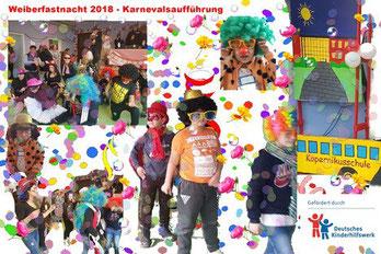 Karneval 2018, Kölle Alaaf, Aufführung, gefördert durch DKHW