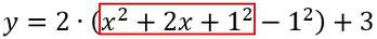 Anwenden der binomischen Formel bei der quadratischen Ergänzung