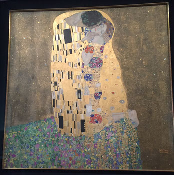 The kiss by Gustav Klimt at the Belvedere