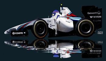 Valtteri Bottas by Muneta & Cerracín - Valtteri Bottas con su Williams FW36 - Mercedes