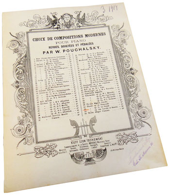 Наяда (Нимфа), пьеса Франсиса Томе, старинные ноты