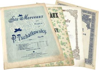 Ноктюрны Чайковского в изданиях Юргенсона: фа мажор, до диез минор, «Complainte» (Зилоти), ноты для фортепиано