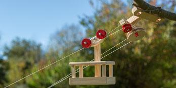 Seilbahn aus Holz bauen